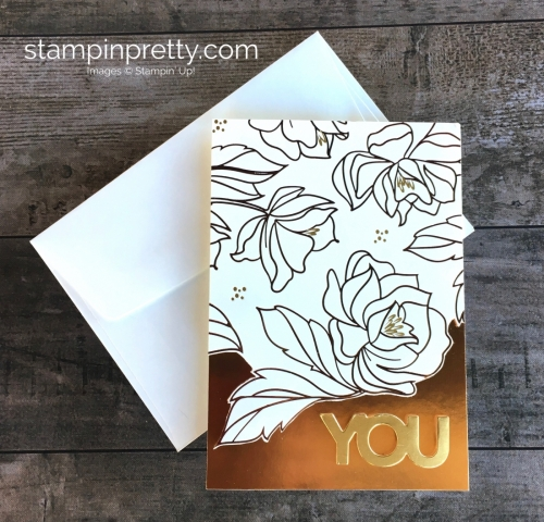 Metallic Birthday Card Idea using Stampin Up Springtime Foil Specialty Designer Series Papers - Mary Fish StampinUp