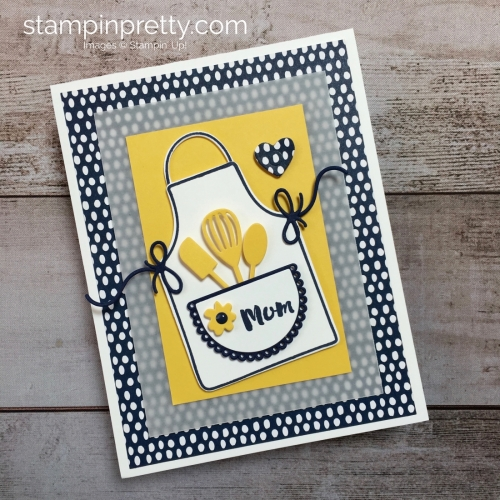 Mother's Day Card using Stampin Up Apron of Love - Mary Fish StampinUp