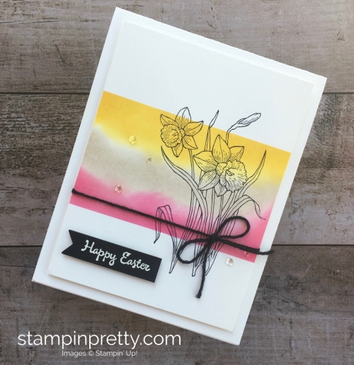 Simple Easter Card using Stampin Up Youre Inspired Stamp Set - Mary Fish StampinUp Card Ideas