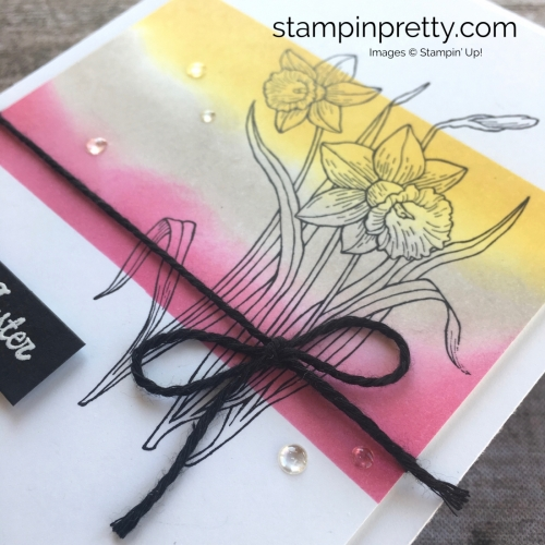 Simple Easter Card using Stampin Up Youre Inspired Stamp Set - Mary Fish StampinUp Idea