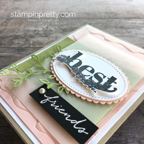 Simple friendship card using Stampin Up Happy Wishes stamp set - Mary Fish StampinUp