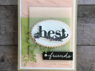 Simple friendship card using Stampin Up Happy Wishes stamp set - Mary Fish StampinUp card idea
