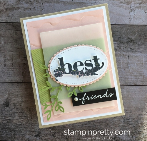 Simple friendship card using Stampin Up Happy Wishes stamp set - Mary Fish StampinUp card ideas
