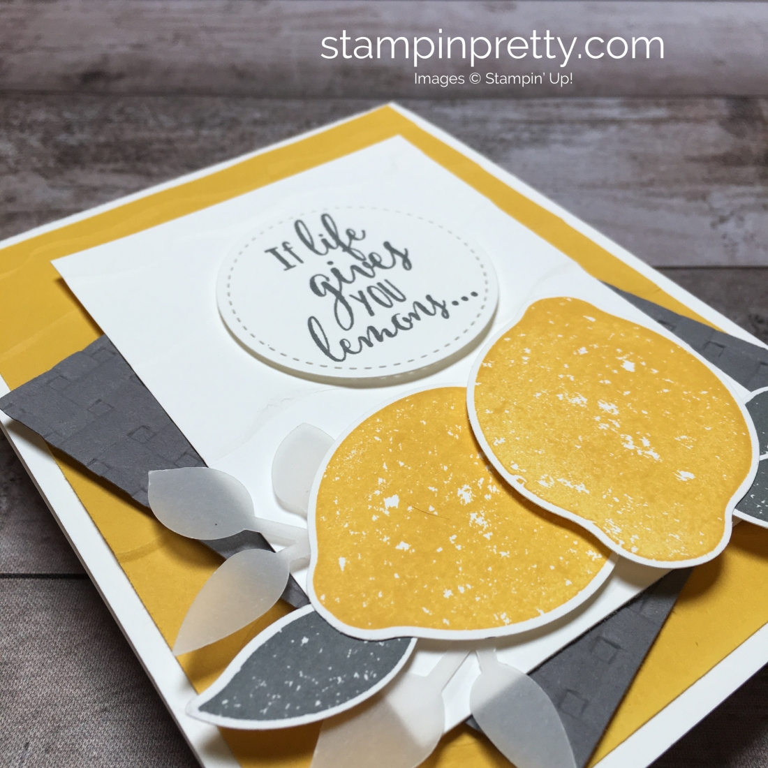 Create a friend card using Stampin Up Lemon Zest & Lemon Punch - Mary Fish StampinUp