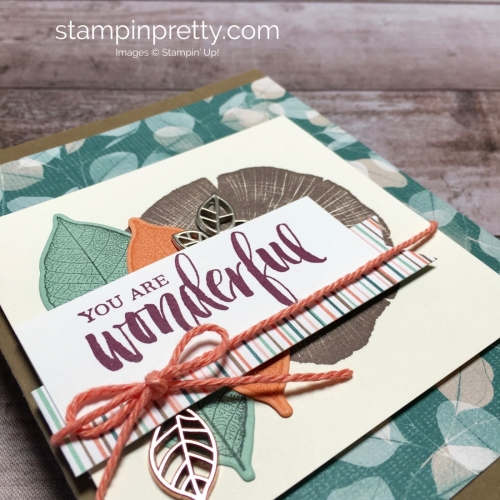 Create a friend card using Stampin Up Rooted in Nature - Mary Fish StampinUp