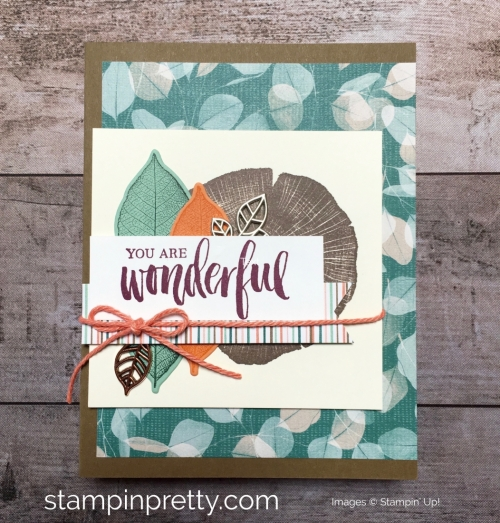 Create a friend card using Stampin Up Rooted in Nature - Mary Fish StampinUp Idea