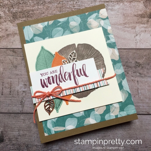 Create a friend card using Stampin Up Rooted in Nature - Mary Fish StampinUp Ideas