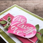 Create a simple card using Stampin Up Layering Love - Mary Fish StampinUp Idea
