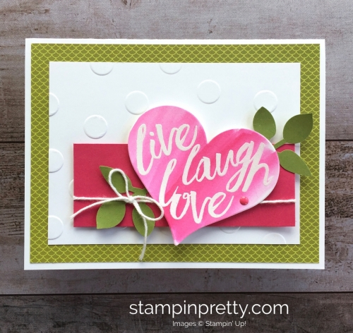 Create a simple card using Stampin Up Layering Love - Mary Fish StampinUp Ideas