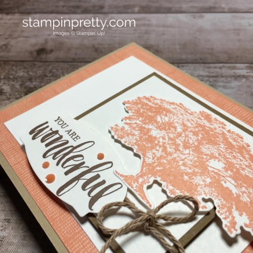 Create a simple card using Stampin Up Rooted in Nature - Mary Fish StampinUp Idea