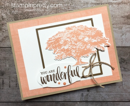Create a simple card using Stampin Up Rooted in Nature - Mary Fish StampinUp Ideas