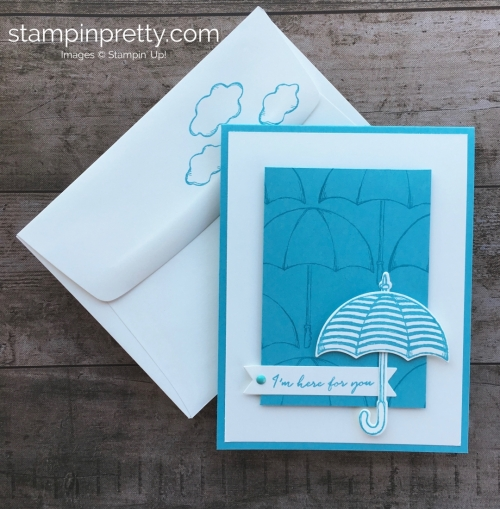 Create a simple friendship support card using Stampin Up Weather Together stamp set - Mary Fish StampinUp