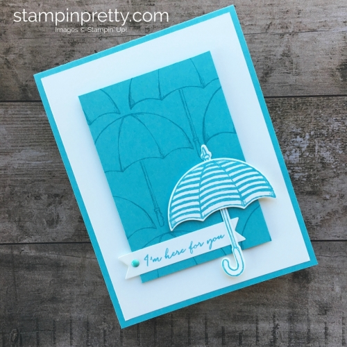 Create a simple friendship support card using Stampin Up Weather Together stamp sets - Mary Fish StampinUp