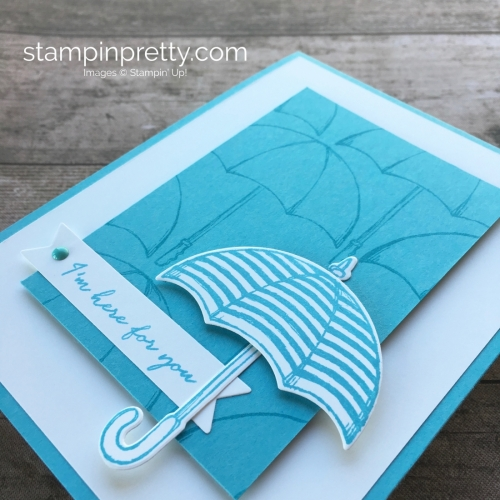 Create a simple friendship support card using Stampin Up Weather Together stamps set - Mary Fish StampinUp
