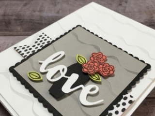 Create a simple love anniversary or wedding card using Varied Vases Stamp Set and Vase Builder Punch - Mary Fish StampinUp Idea
