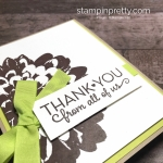 Create a simple thank you card using Stampin Up Definitely Dahlia and One Big Meaning Stamp Sets - Mary Fish StampinUp Idea