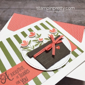 Create a simple thank you card using Stampin Up Picnic with You Basket Idea - Mary Fish StampinUp
