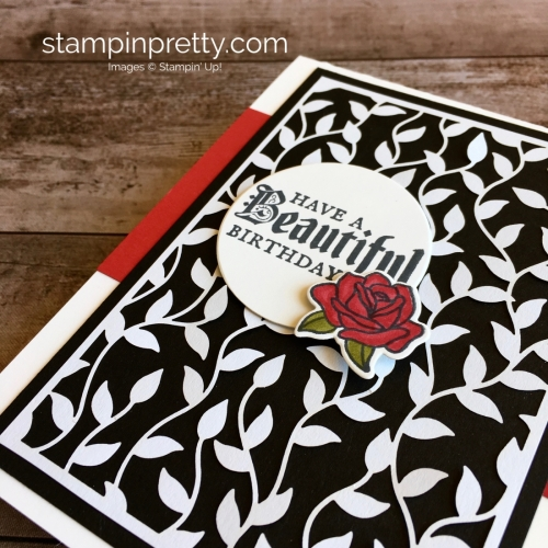 Create a simple birthday card using Stampin Up Painted Glass stamp set - Mary Fish