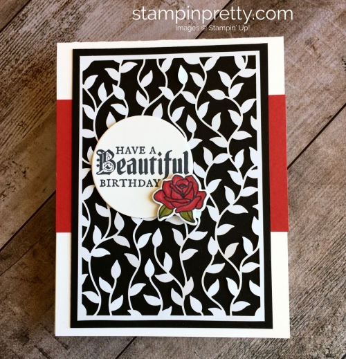 Create a simple birthday card using Stampin Up Painted Glass stamp set - Mary Fish idea