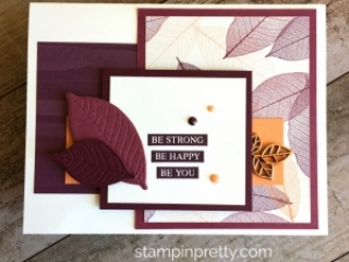 Create a simple encouragement card using Stampin Up Rooted in Nature - Mary Fish StampinUp Ideas