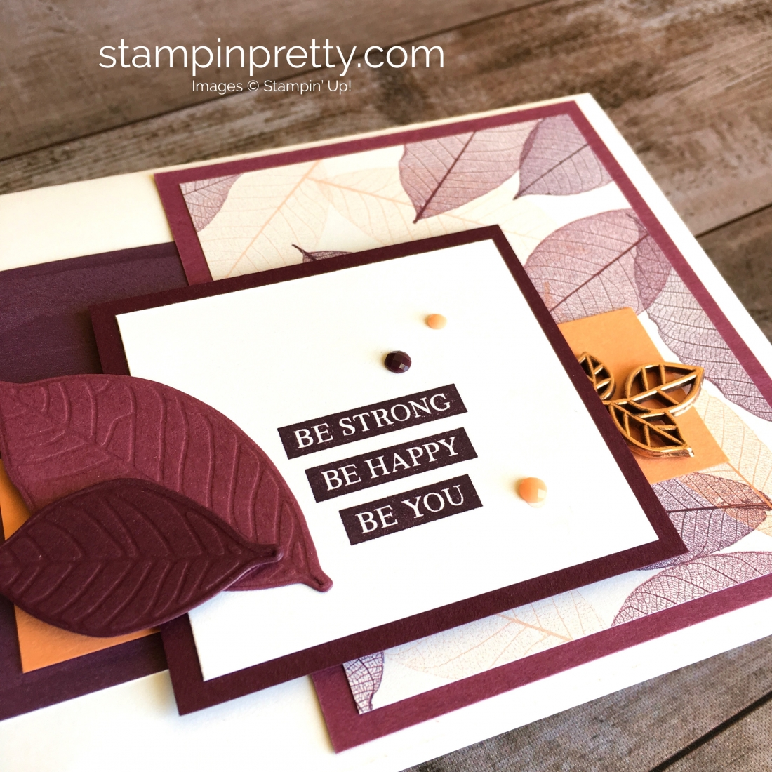 Create a simple encouragement card using Stampin Up Rooted in Nature - Mary Fish StampinUp