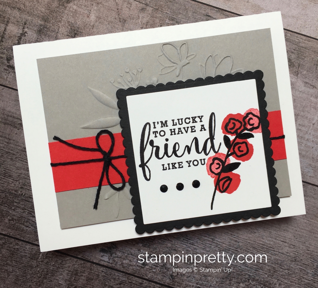 Create a simple friend card using Love What You Do stamp set - Mary Fish StampinUp Ideas