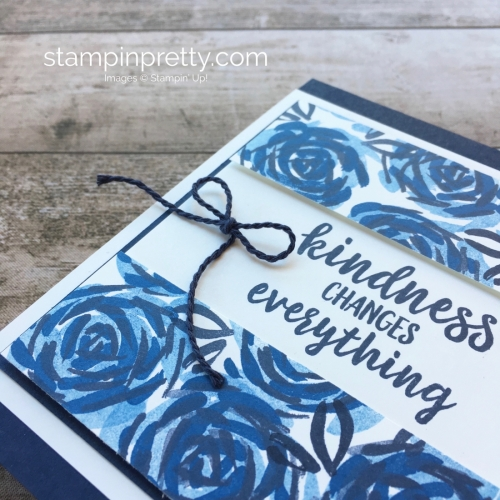 Create a simple friend card using Stampin Up Abstract Impressions