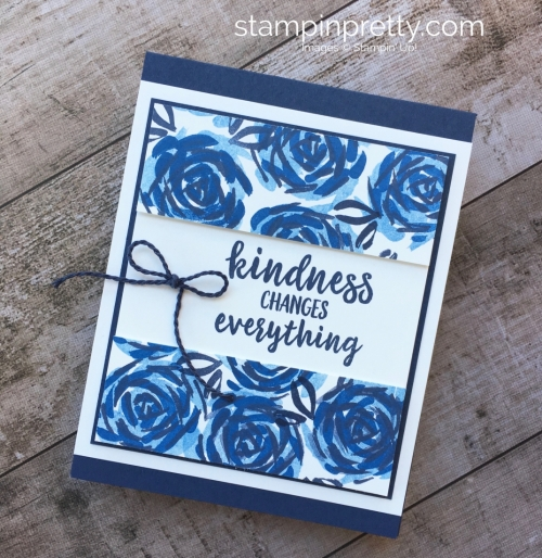 Create a simple friend card using Stampin Up Abstract Impressions idea