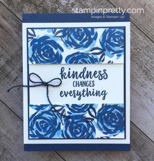 Create a simple friend card using Stampin Up Abstract Impressions ideas