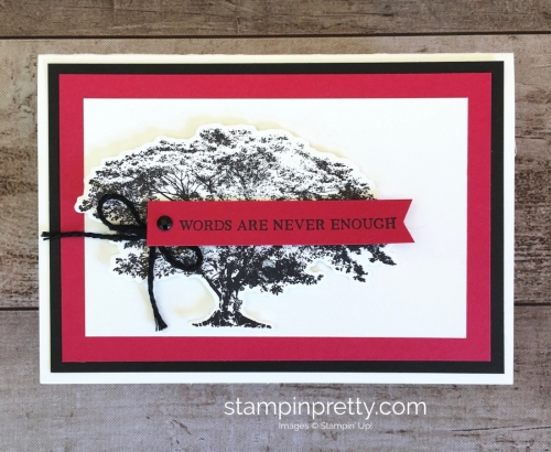 Create a simple friend card using Stampin Up Rooted in Nature - Mary Fish StampinUp