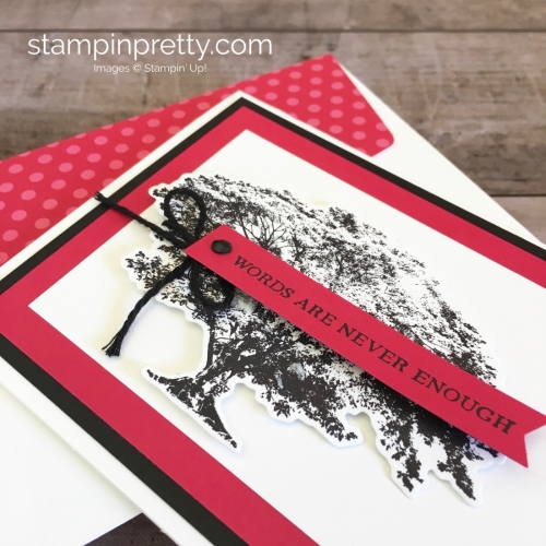 Create a simple friend card using Stampin Up Rooted in Nature - Mary Fish StampinUp Idea