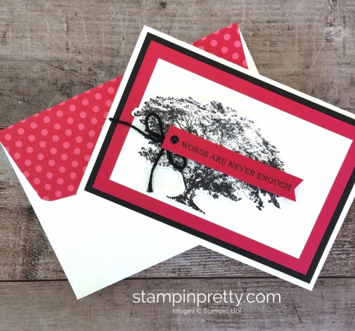 Create a simple friend card using Stampin Up Rooted in Nature - Mary Fish StampinUp Ideas