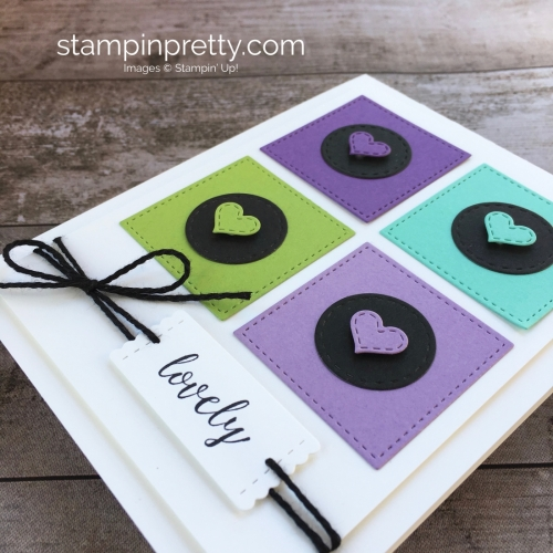Create a simple friendship card using Stampin Up Stitched Labels Framelits Dies - Mary Fish StampinUp Ideas
