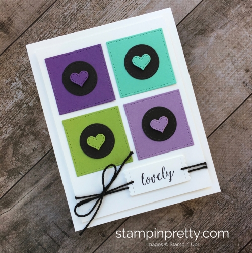 Create a simple friendship card using Stampin Up Stitched Labels Framelits Dies - Mary Fish StampinUp idea