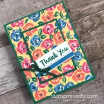 Create a simple thank you card using Stampin Up Abstract Impressions - Mary Fish StampinUp