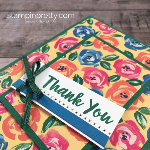 Create a simple thank you card using Stampin Up Abstract Impressions - Mary Fish StampinUp Idea