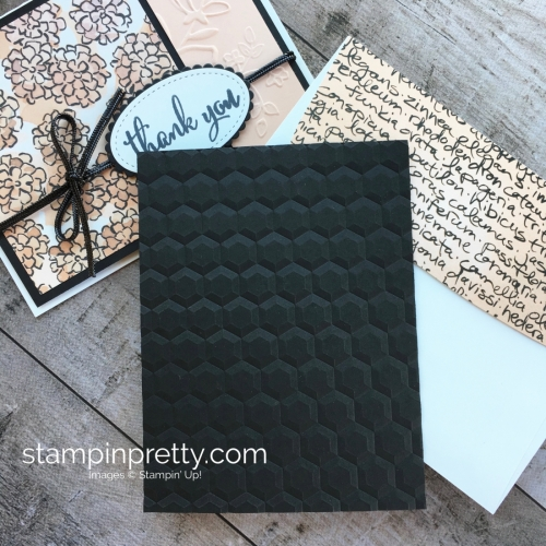 Create a simple thank you card using Stampin Up Love What You Do - Mary Fish StampinUp