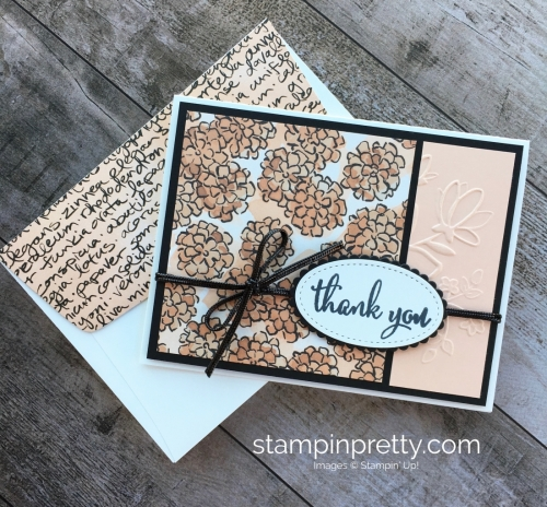 Create a simple thank you card using Stampin Up Love What You Do - Mary Fish StampinUp Idea