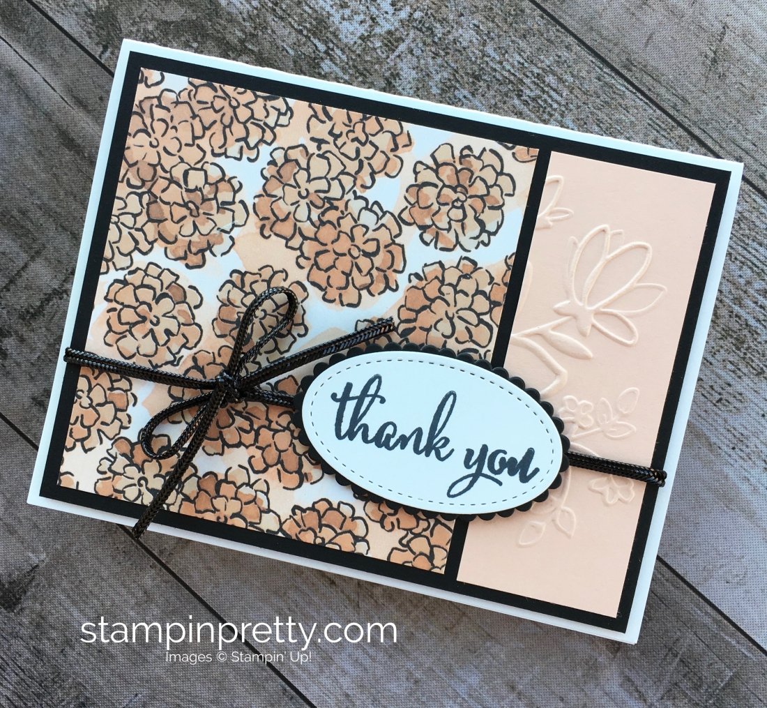 Create a simple thank you card using Stampin Up Love What You Do - Mary Fish StampinUp Stampin Pretty
