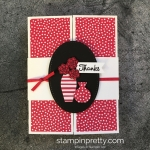 Create a simple thank you card using Varied Vases Stamp Set - Mary Fish