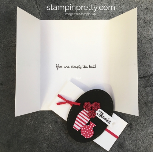 Create a simple thank you card using Varied Vases Stamp Set - Mary Fish StampinUp