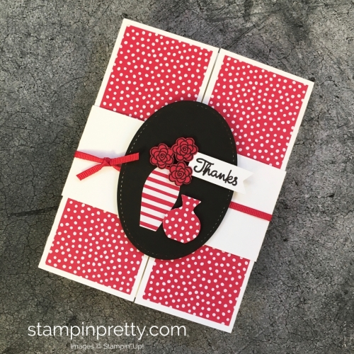 Create a simple thank you card using Varied Vases Stamp Set - Mary Fish ideas