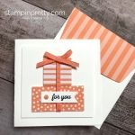 Create a simple 3 x 3 gift card using Stampin Up Itty Bitty Greetings - Mary Fish StampinUp Ideas