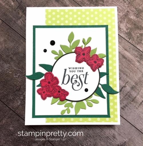 create a friend card using floral frames stamp set - mary fish card ideas stampinup
