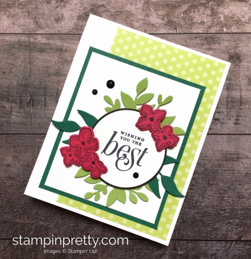 Create a simple birthday card using Stampin Up Floral Frames - Mary Fish StampinUp Idea
