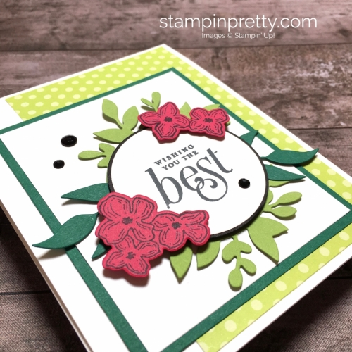 Create a simple birthday card using Stampin Up Floral Frames - Mary Fish StampinUp Ideas