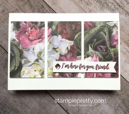 Create a simple card with Stampin Up Petal Promenade Designer Series Paper - Mary Fish StampinUp