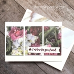 Create a simple card with Stampin Up Petal Promenade Designer Series Paper - Mary Fish StampinUp Card Idea