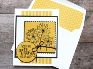 Create a simple get well card using Stampin Up Dandelion Wishes - Mary Fish StampinUp