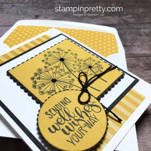 Create a simple get well card using Stampin Up Dandelion Wishes - Mary Fish StampinUp Ideas